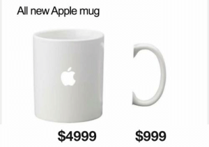 Apple, Dank, and 🤖: All new Apple mug  $4999  $999