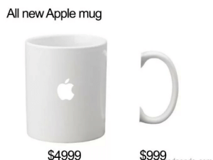 Apple, One, and All: All new Apple mug  $4999  $999 Gotta get me one