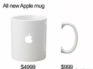 Apple, All, and They: All new Apple mug  $4999  $999 They would do some sh*t like this 😂🤦‍♂️ https://t.co/R8e9vkhYYW