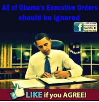 America's Freedom Fighters: All of Obama's Executive Orders  should be ignored  LIKE US ON  FACEBOOK  NATION IN  DISTRESS  LIKE  if you AGREE! America's Freedom Fighters