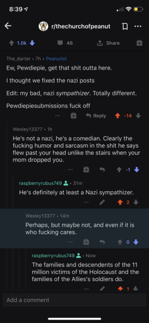 All of the downvoted comments on a Pewdiepie meme about SCP-173 we're about how he's a Nazi.: All of the downvoted comments on a Pewdiepie meme about SCP-173 we're about how he's a Nazi.