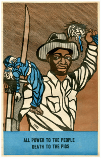 """Tumblr, Blog, and Death: ALL POWER TO THE PEOPLE  DEATH TO THE PIGS frequencebariole:Emory Douglas - printed - """" All Power To The People, Death To The Pigs """""""