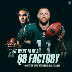 All quarterbacks welcome. 🏭🦅  @cj_wentz | @jalenhurts | @Eagles https://t.co/Qb6ctTuTZe: All quarterbacks welcome. 🏭🦅  @cj_wentz | @jalenhurts | @Eagles https://t.co/Qb6ctTuTZe