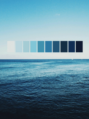 All shades of blue: All shades of blue
