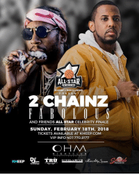 All star weekend lit 🔥 at @ohmnightclubla contact @kylecar_ for tickets and tables !!: ALL STAR  KHEEP +NIXCLUSIVE  PRESENT  AND FRIENDS ALL STAR CELEBRITY FINALE  SUNDAY, FEBRUARY 18TH, 2018  TICKETS AVAILABLE AT KHEEP.COM  VIP INFO 407.770.8177  OHM  N IG H T C L UB  oon NIGHTS All star weekend lit 🔥 at @ohmnightclubla contact @kylecar_ for tickets and tables !!