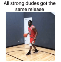Basketball, Nba, and Sports: All strong dudes got the  same release Zion shoot like this too 😂 (Via ‪LooxeyTunes‬-Twitter, @sportsillustrated)