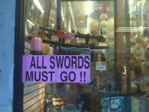 Fake, Gif, and Target: ALL SWORDS  MUST GO!!  ON SALE galacticenkidulgaa: torgoooo: