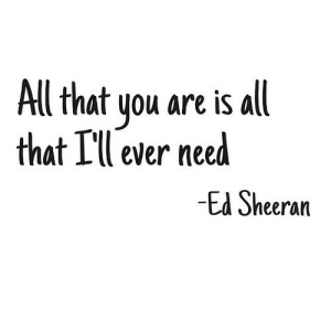 Ed Sheeran, All That, and Net: All that you are is all  that Lll ever nee  Ed Sheeran https://iglovequotes.net/