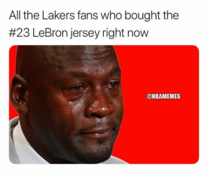 [BREAKING] LeBron James gives Anthony Davis incredible gift he hasn't given anyone else: bit.ly/LBJADGift: All the Lakers fans who bought the  #23 LeBron jersey right now  @NBAMEMES [BREAKING] LeBron James gives Anthony Davis incredible gift he hasn't given anyone else: bit.ly/LBJADGift