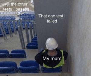 me_irl by angelcuevas11 MORE MEMES: All the otherS  tests I passed  That one test l  failed  My mum me_irl by angelcuevas11 MORE MEMES