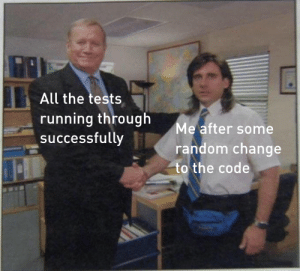 I don't even know but it works now: All the tests  running through  successfully  Me after some  random change  to the code I don't even know but it works now