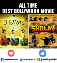 3 Idiots: ALL TIME  BEST BOLLYWOOD MOVIE  3 idiots  SHPLAY  Ifiokeskingofficial  Ijokeskingofficial  /JOKESKING,IN