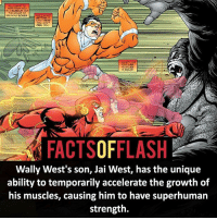 Batman, Bones, and Facts: ALL WANT TO  HEAR FROM you  RSA SCREAM AND  THE SOUND OF  BREAKING BONES.  CAN'T HEAR  YOU CANT  FEEL YOU  is SOLID.  FACTSOFFLASH  Wally West's son, Jai West, has the unique  ability to temporarily accelerate the growth of  his muscles, causing him to have superhuman  strength. ⚡️⚡️ - Jai West! - (putting old facts in the new layout) - My other IG Accounts @facts_of_heroes @webslingerfacts @yourpoketrivia ⠀⠀⠀⠀⠀⠀⠀⠀⠀⠀⠀⠀⠀⠀⠀⠀⠀⠀⠀⠀⠀⠀⠀⠀⠀⠀⠀⠀⠀⠀⠀⠀⠀⠀ ⠀⠀------------------------ blackflash lindapark batman johnfox maxmercury impulse inertia professorzoom danielwest godspeed savitar flashcw theflash hunterzolomon therogues flashcw justiceleague wallywest eobardthawne grantgustin ezramiller like4like batmanvsuperman bartallen zoom flash barryallen youngjustice jaygarrick
