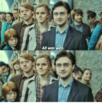 Memes, Last Words, and 🤖: All was well.  REFA WWKESS The 3 last words of the series. ⚡️ HarryPotter