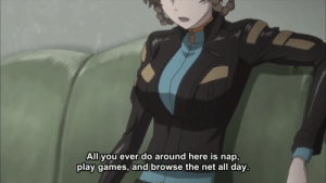 animeirl:anime_irl meirl: All you ever do around here is nap,  play games, and browse the net all day animeirl:anime_irl meirl