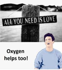 Oxygen, All You Need Is Love, and Needs: ALL YOU NEED IS LOVE  oxygen  helps too!