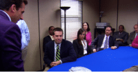 "This is about my 5th time watching through the show and just noticed this...Who is this sitting next to Karen? Season 3 Episode 8 ""The Merger"": Allallir This is about my 5th time watching through the show and just noticed this...Who is this sitting next to Karen? Season 3 Episode 8 ""The Merger"""