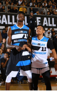 RT @Eastbay: A couple of former @Ballislife All-Americans just went back-to-back in the lottery. #NBADraft #BILAAG https://t.co/408vBAyGZc: ALLEALL  BALLISLIFE  ALL-AMIER  ANİENca. BALL LIFE  AMERICAN  ALL RT @Eastbay: A couple of former @Ballislife All-Americans just went back-to-back in the lottery. #NBADraft #BILAAG https://t.co/408vBAyGZc