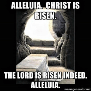 Episcopal Church , Net, and Risen: ALLELUIA. CHRIST IS  RISEN  THE LORD IS RISENINDEED  ALLELUIA.m  memegenerator.net Alleluia.  Christ is risen.  (BCP, p. 294)
