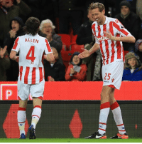 "Everton, Memes, and Premier League: ALLEN  het30  LEC. Peter Crouch has scored his 100th Premier league goal - and celebrated it by breaking out the ""robot dance"". The Stoke City striker hit the milestone against Everton on Wednesday evening.💯 Crouch milestone robotdance 100 @premierleague"