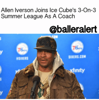 "Allen Iverson, Ice Cube, and Memes: Allen Iverson Joins Ice Cube's 3-On-3  Summer League As A Coach  @balleralert  xtinity Allen Iverson Joins Ice Cube's 3-On-3 Summer League As A Coach - blogged by: @eleven8 - ⠀⠀⠀⠀⠀⠀⠀⠀⠀ ⠀⠀⠀⠀⠀⠀⠀⠀⠀ AllenIverson will soon be returning to the hardwood - sort of. According to TheVertical, Iverson has committed to IceCube's BIG3 3-on-3 summer league as a head coach-player. He will be one of eight dual head coach-players in the professional league. ⠀⠀⠀⠀⠀⠀⠀⠀⠀ ⠀⠀⠀⠀⠀⠀⠀⠀⠀ It was announced that the traveling summer league will consist of former professional NBA players, including Chauncey Billups, Kenyon Martin, Rashard Lewis, Jermaine O'Neal, Stephen Jackson and Jason Williams. RogerMason and Ice Cube are co-founders of BIG3, which is set to kick off June 24 and tour for 10 weeks. The BIG3 consists of eight teams of five players—two ""bench"" players and three ""starters."" ⠀⠀⠀⠀⠀⠀⠀⠀⠀ ⠀⠀⠀⠀⠀⠀⠀⠀⠀ Iverson will be one of the eight head coaches. GaryPayton has also signed on to coach."