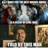 ~Deadpool: ALLI WANT FOR THE NEXT MARVEL MOVIE  ISARECAPOFCIVIL WAR  TOLD BY THIS MAN ~Deadpool