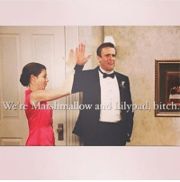 allow a  Lilypad, bitch. Marshmallow and lilypad♥ Marshall week has ended😭😭 howimetyourmother himym marshalleriksen jasonsegel alysonhannigan lilyaldrin