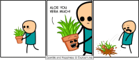 Happy Valentine's Day!: ALOE YOU  VERA MUCH!  Cyanide and Happiness Explosm.net Happy Valentine's Day!