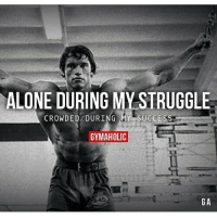 💯💪 @officialdoyoueven: ALONE DURING MY STRUGGLE  CROWDED DURING Y SUCCESS  GYMAHOLIC  GA 💯💪 @officialdoyoueven