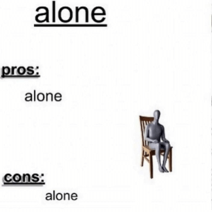 Do I even need to explain? : INTP: alone  pros  alone  cons:  alone Do I even need to explain? : INTP