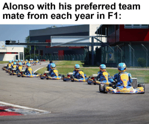 F1, Team, and Avanti: Alonso with his preferred team  mate from each year in F1: Avanti Fer!
