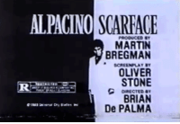 Martin, Scarface, and Oliver Stone: ALPACINO SCARFACE  MARTIN  BREGMAN  OLIVER  STONE  BRIAN  De PALMA Dm for promos
