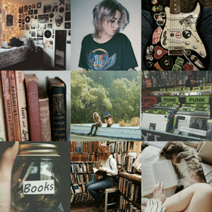 Books, Club, and Tumblr: ALPUNK  PUNK  BLACK FLAC  CONVERGE  COFFEE  PUNK -B  .CIRCLE JERKS  SECONDS  SSAYS  SECON  RTES  Books peachy-gay-club:  punk x bookworm wlw 💕