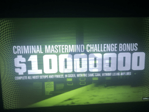 Already had done the all in order and loyalty challenge with the squad but finally gave the criminal mastermind challenge a try and we did it, in the end it is not as hard as you may think it'll be if you go well prepared and dont make dumb mistakes!: Already had done the all in order and loyalty challenge with the squad but finally gave the criminal mastermind challenge a try and we did it, in the end it is not as hard as you may think it'll be if you go well prepared and dont make dumb mistakes!