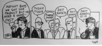 Instagram, Memes, and Shit: ALRIGHT BoYs  WE GOT THE  PRODUCT BUT WE TISSUE  NEED A NAME-  FAST  TUSHIE  SHIT  SHEETS ITSHIT  POOPER  PAPER  SHEETS  IT IS  SH www.instagram.com/extrafabulous_comics