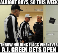 Pete Carroll trying to figure out how to beat the 4-0 Bengals! LIKE NFL Memes!: ALRIGHT GUYS, SO THIS WEEK  HEADCOACH  IE22  KONFLMEMEL  THROW HOLDING FLAGS WHENEVER  AJ. GREEN GETS OPEN Pete Carroll trying to figure out how to beat the 4-0 Bengals! LIKE NFL Memes!