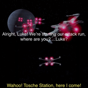 No reward is worth this!: Alright, Luke! We're starting our attack run,  where are you...Luke?  Wahoo! Tosche Station, here I come! No reward is worth this!
