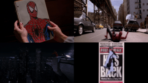 [Not a meme] Cake day! This was the first sub I joined. Despite how it has become cool to hate Raimi's films, using the same regurgitated nonsense. I found a place where I saw appreciation for them. In honour of that, here's some stills that showcase my appreciation for these films without words.: ALROLARES ON THE MAINSOER CNCERNED  C rts verA Saely  DAILY BUGLE  WAS  BMCK  Masked Menace Returns [Not a meme] Cake day! This was the first sub I joined. Despite how it has become cool to hate Raimi's films, using the same regurgitated nonsense. I found a place where I saw appreciation for them. In honour of that, here's some stills that showcase my appreciation for these films without words.