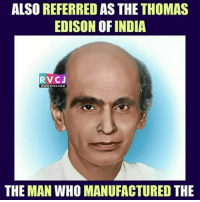 Birthday, Memes, and Happy Birthday: ALSO REFERRED AS THE THOMAS  EDISON OFINDIA  RVCJ  THE MAN WHO MANUFACTURED THE Happy Birthday G.D.Naidu rvcjinsta