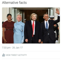 Fucked up if true. | For more @aranjevi: Alternative facts  7:33 pm 26 Jan 17  li VIEW TWEET ACTIVITY Fucked up if true. | For more @aranjevi