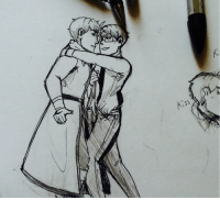 Target, Tumblr, and Blog: altries:I should be working on a comic but I ended up doodling cold war gays instead