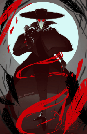 crimson-chains:  its-raining-color:  Finished a new piece of art just in time for Halloween! The scariest part about this is that they didn't go to medical school.I love the aesthetic of plague doctors so I always thought it'd be fun to draw one, and figured spooky season is the perfect excuse.   YOI fucking LOVE this!!!: AltsRainingColor crimson-chains:  its-raining-color:  Finished a new piece of art just in time for Halloween! The scariest part about this is that they didn't go to medical school.I love the aesthetic of plague doctors so I always thought it'd be fun to draw one, and figured spooky season is the perfect excuse.   YOI fucking LOVE this!!!