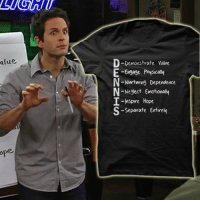 """""""Maybe I should just stick to stalking. Maybe that's my system.""""  For everyone else, there's this:  http://itsalways.com/dennis-system-shirt  The D.E.N.N.I.S. System!: alue.  Demonstrate vane  E-Engage Physica  N-Ninrtming Dependence  Neglect Emotionaly  I-Inspire Hope  -Separate EntiveM """"Maybe I should just stick to stalking. Maybe that's my system.""""  For everyone else, there's this:  http://itsalways.com/dennis-system-shirt  The D.E.N.N.I.S. System!"""