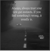 Instincts: Always, always trust your  first gut instincts. If you  feel something's wrong, it  usually is.  Lessons  EaRneD  ife