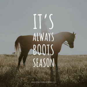 So true.   The looks you get in the summer are priceless.: ALWAYS  BOOTS  SEASON  www. SPIRITHOŘSEDESİGNS COM So true.   The looks you get in the summer are priceless.