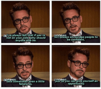 Memes, 🤖, and Encouraging: always felt that if you're  not on your side why should  So always encourage people to  else be.  be and sometimes even a little  just so you can give yourself an  opportunity. A Friday motivational message from @robertdowneyjr. rdj robertdowneyjr motivation inspiratiob