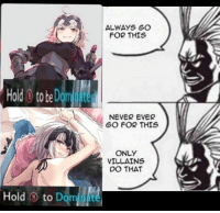 Only Villains Do That
