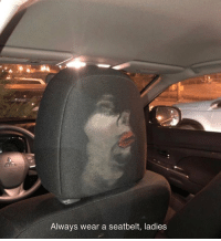 Memes, 🤖, and Car: Always wear a seatbelt, ladies Stop leaving your face in the car 😂