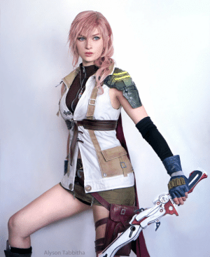 Lightning, Final Fantasy, and Final Fantasy 13: Alyson Tabbitha Alyson Tabbitha as Lightning (Final Fantasy 13)