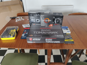 Microsoft, Windows, and Blue: AM D  ARCTIC  AMDE  RCTIC  50  RYZEN  10  Year  mited  ms  CK  30-GEN PROCESSOR  PCle GEN READY  BLUE  ate DriveI Disque SSD  2019  Edition  A MD  M OT  H ER B  B450  ARCTIC  X  TOMAHAWK  SCANS WIN  500  EVERY MONR  SAIR  DDR4  2x8ca 16GB  300OMHZ  RYZEN  AMDA  AMD  IB450  AMD RYZEN DESKTOP 2000 READY  VENGERNE  LPX  SOCKET  AM4  MX-4  Thermal Compound  PCI Express 3.0| Microsoft Windows 10-Ready I Over-Oocking Suppon  msi  AMD M OTHERBOAR D  B450  TOMAHAWK  VENGEANCE  LPX  AMD  SOCKET  AM4  B450  RYZEN  CORSAR  OO000 I'm on the stairway to ascension my bros.